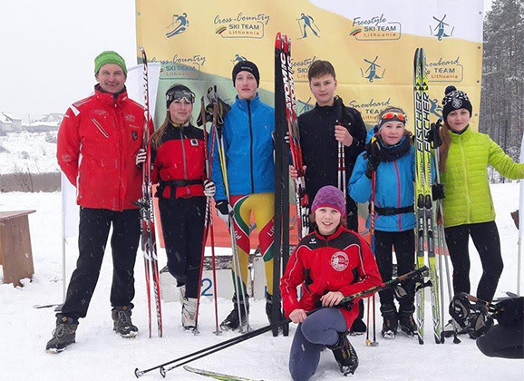 Anykščių KKSC slidininkai iškovojo medalius
