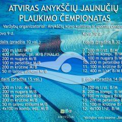 Anykščiuose vyks atviras jaunučių plaukimo čempionatas