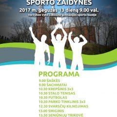 Gegužės 13 dieną Anykščiuose – rajono seniūnijų sporto žaidynės