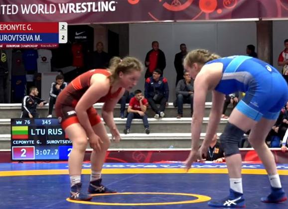 G.Čeponytė Europos jaunimo čempionate užėmė penktą vietą