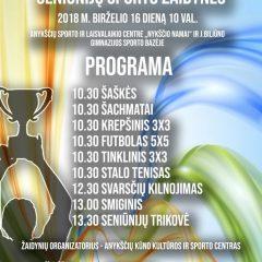 Birželio 16 dieną – XI Anykščių rajono seniūnijų sporto žaidynės