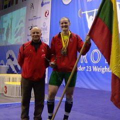 Gintarė Bražaitė – Europos jaunimo sunkiosios atletikos vicečempionė! (FOTO, VIDEO)